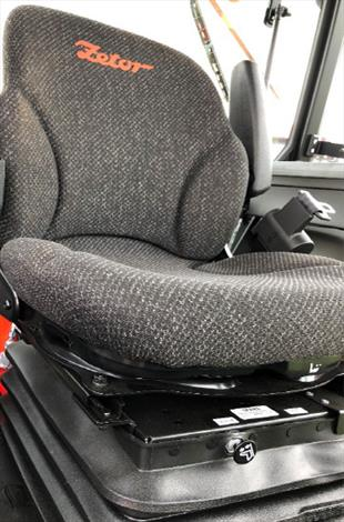 Optional Factory Air Ride Seat with For/Aft/Swivel/Recline/Rocker